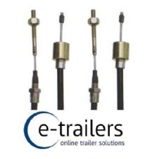 PAIR 1430mm ALKO TYPE STAINLESS STEEL DETACHABLE TRAILER BRAKE CABLES - IFOR